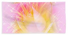Beach Towel featuring the photograph Sparkling Starlight Burst Abstract by Judy Palkimas