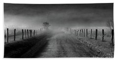 Sparks Lane In Black And White Beach Towel