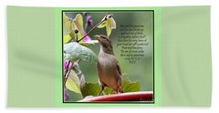 Sparrow Inspiration From The Book Of Luke Beach Towel