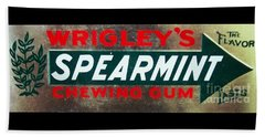 Spearmint Gum Sign Vintage Beach Sheet