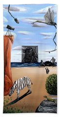 Beach Towel featuring the painting Species Differentiation -darwinian Broadcast- by Ryan Demaree