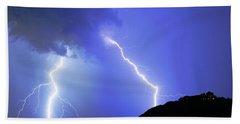 Spectacular Double Lightning Strike Beach Sheet