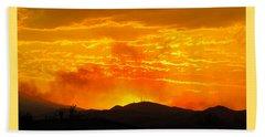 Beach Towel featuring the photograph Spectacular Nevada Sunset  by Phyllis Kaltenbach