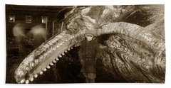 Sperm Whale Taken At Moss Landing California  On January 22 1919 Beach Towel