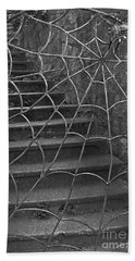 Beach Towel featuring the photograph Spider And Web Iron Gate Art Prints by Valerie Garner