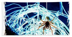 Beach Sheet featuring the digital art Spider by Daniel Janda