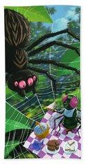 Spider Picnic Beach Towel by Martin Davey