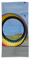 Spinning In A Circle Beach Towel by E Faithe Lester