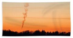 Spiral Cloud At Sunset Beach Towel