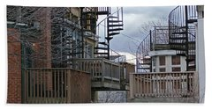 Beach Towel featuring the photograph Spiral Stairs by Brian Wallace