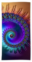 Spiral With Beautiful Orange Purple Turquoise Colors Beach Sheet