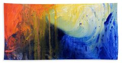 Spirit Of Life - Abstract 7 Beach Sheet by Kume Bryant