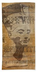 Spirit Of Nefertiti Egyptian Queen   Beach Towel