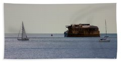 Spitbank Fort Martello Tower Beach Towel