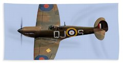 Spitfire Mk 1 R6596 Qj-s Beach Sheet by Gary Eason