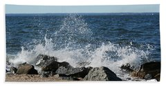 Beach Sheet featuring the photograph Splash by Karen Silvestri
