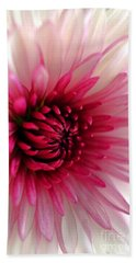 Splash Of Pink Beach Towel by Deb Halloran