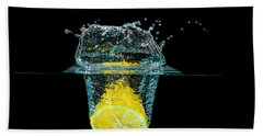Splashing Lemon Beach Towel