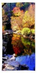 Splendor Of Autumn Beach Sheet by Karen Wiles