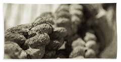 Spliced And Bound Black And White Sepia Beach Towel