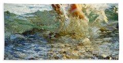 Beach Towel featuring the photograph Splish Splash by Heiko Koehrer-Wagner