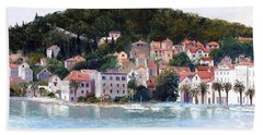 Split Harbour Croatia Beach Towel