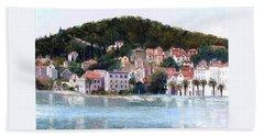 Split Harbour Croatia Beach Towel
