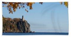 Split Rock Leaves Beach Towel by James Peterson
