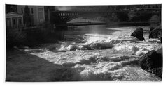 Spokane Falls Spring Flow Beach Sheet