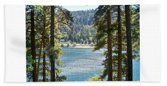 Spotted Lake - Scenic Photography - Lake Gregory California - Ai P. Nilson Beach Towel