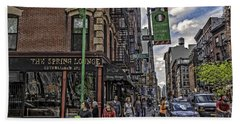Spring And Mulberry - Street Scene - Nyc Beach Sheet