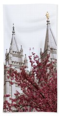 Spring At The Temple Beach Towel by Chad Dutson
