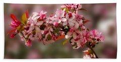 Cheery Cherry Blossoms Beach Sheet
