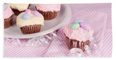 Cupcakes With A Spring Theme Beach Sheet