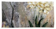 Beach Towel featuring the painting Spring Desert Flowers by Lisa Kaiser