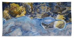 Beach Towel featuring the photograph Spring Drawing A Line In The Ice  by Brian Boyle