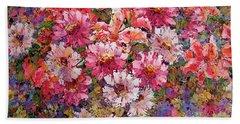 Spring Flower Bouquet Beach Sheet