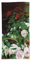 Spring Flowers Study Of Monet Beach Sheet