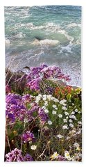 Spring Greets Waves Beach Sheet by Susan Garren