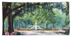 Spring In Forsythe Park Beach Towel by Stanton Allaben