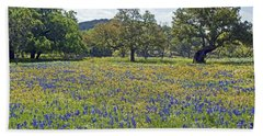 Spring In The Texas Hill Country Beach Sheet