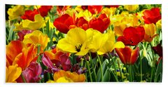 Beach Towel featuring the photograph Spring Is Coming by Nava Thompson