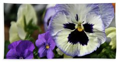 Spring Pansy Flower Beach Sheet