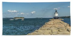 Beach Towel featuring the photograph Spring Point Ledge Lighthouse by Jane Luxton