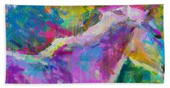 Spring Rain Beach Towel by Greg Collins