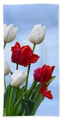 Spring Tulips Beach Sheet by Jane McIlroy
