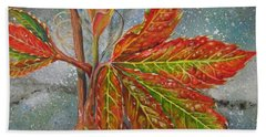 Spring Virginia Creeper Beach Towel