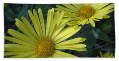 Spring Yellow  Beach Towel by Cheryl Hoyle