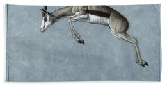 Springbok Beach Towel by James W Johnson