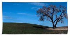 Springtime In The Palouse Beach Towel by Sharon Elliott